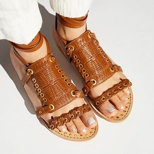 NWT Free People Andies Wrap Leather Sandal 40
